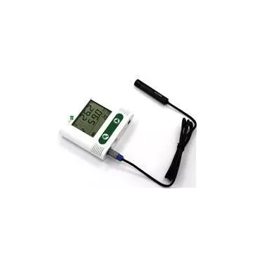 External probe temperature & humidity data logger