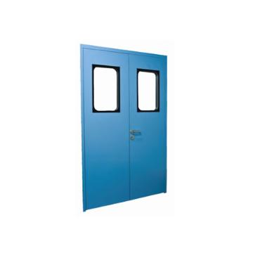 Steel double opening purifying door