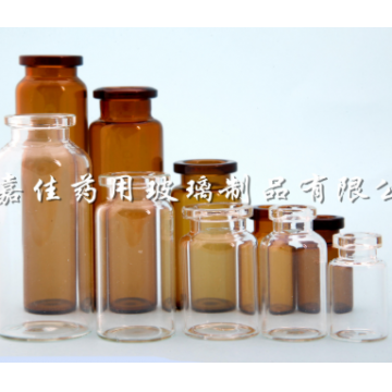 Low borosilicate glass controlled injection bottle