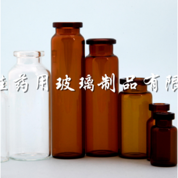 Neutral borosilicate glass controlled injection bottle