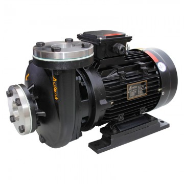 Hot water to heat oil centrifugal pump