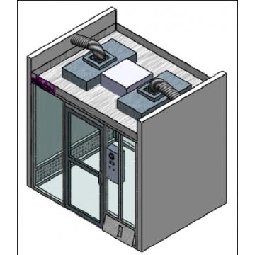 Temperature controlled hardwall modular clean room MCR-6HD-TB