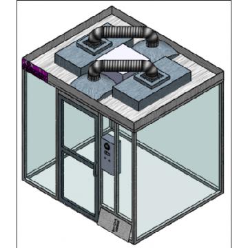 Temperature controlled hardwall modular clean room MCR-5HD-TA