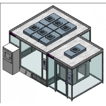 Modular hardwall clean room MCR-4HC-B