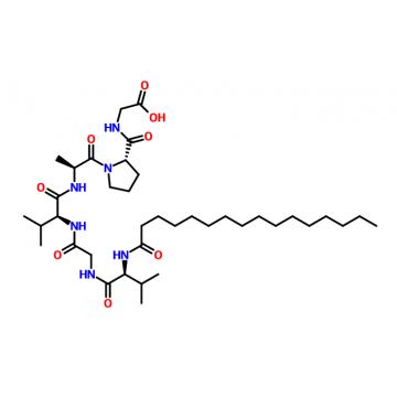 Glycine, N-(1-oxohexadecyl)-L-valylglycyl-L-valyl-L-alanyl-L-prolyl-