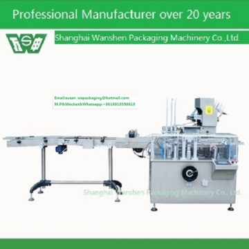 Cartoning machine for liquid injection