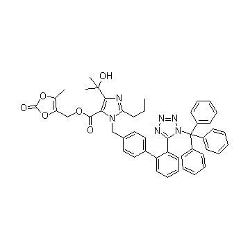 Trityl olmesartan intermediates
