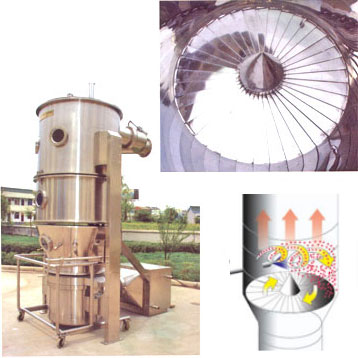 LBF turbojet fluid-bed granulator coater