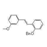 1-[2-(3-methoxyphenyl)ethenyl]-2-(phenylmethoxy)- Benzene